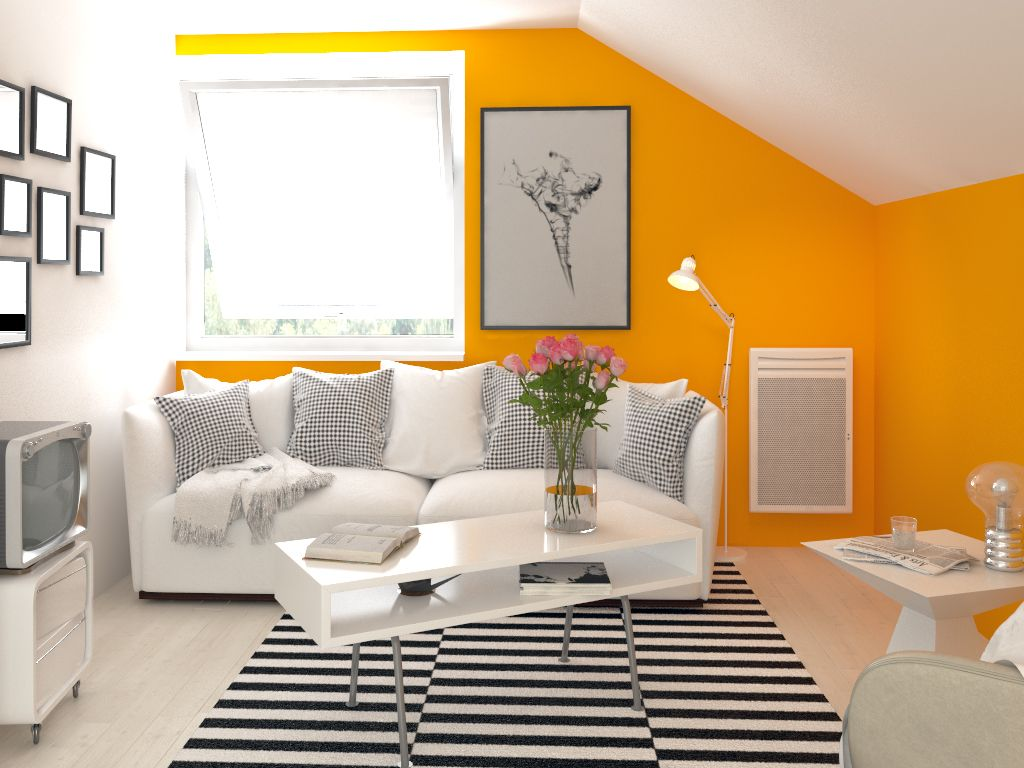 radiateur lectrique avec panneau rayonnant intelligent et. Black Bedroom Furniture Sets. Home Design Ideas