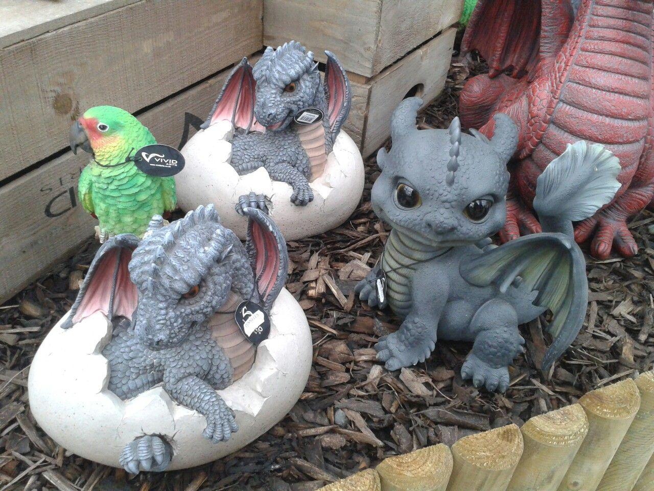 Dragon ornaments   Decor, Outdoor decor, Garden sculpture