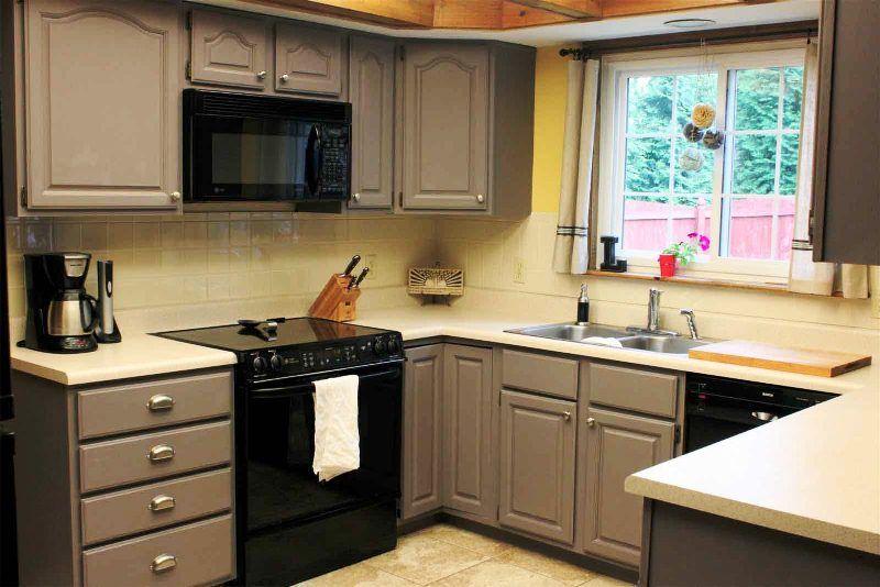 Repeindre meuble cuisine cuisine pinterest repeindre - Repeindre ses meubles de cuisine en bois ...