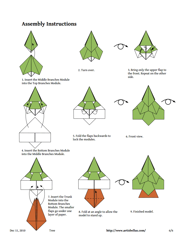 christmas origami diagram gl1800 wiring artisbellus tree pdf informational text pinterest leaves flowers paper train