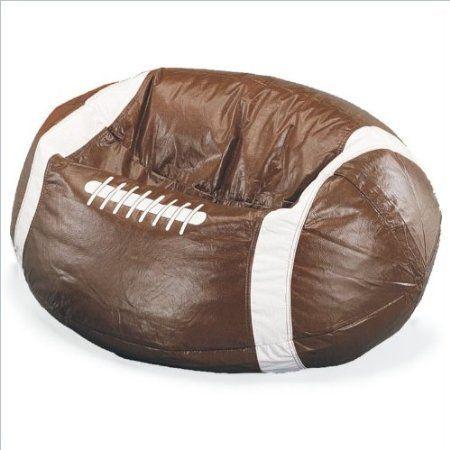 Amazon Com Elite Sport Vinyl Football Bean Bag Chair Furniture Decor 47 97 In 2020 Football Bean Bag Bean Bag Chair Bean Bag