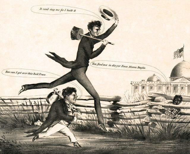 Lincoln Douglas In A Presidential Footrace No 1 1860 Library