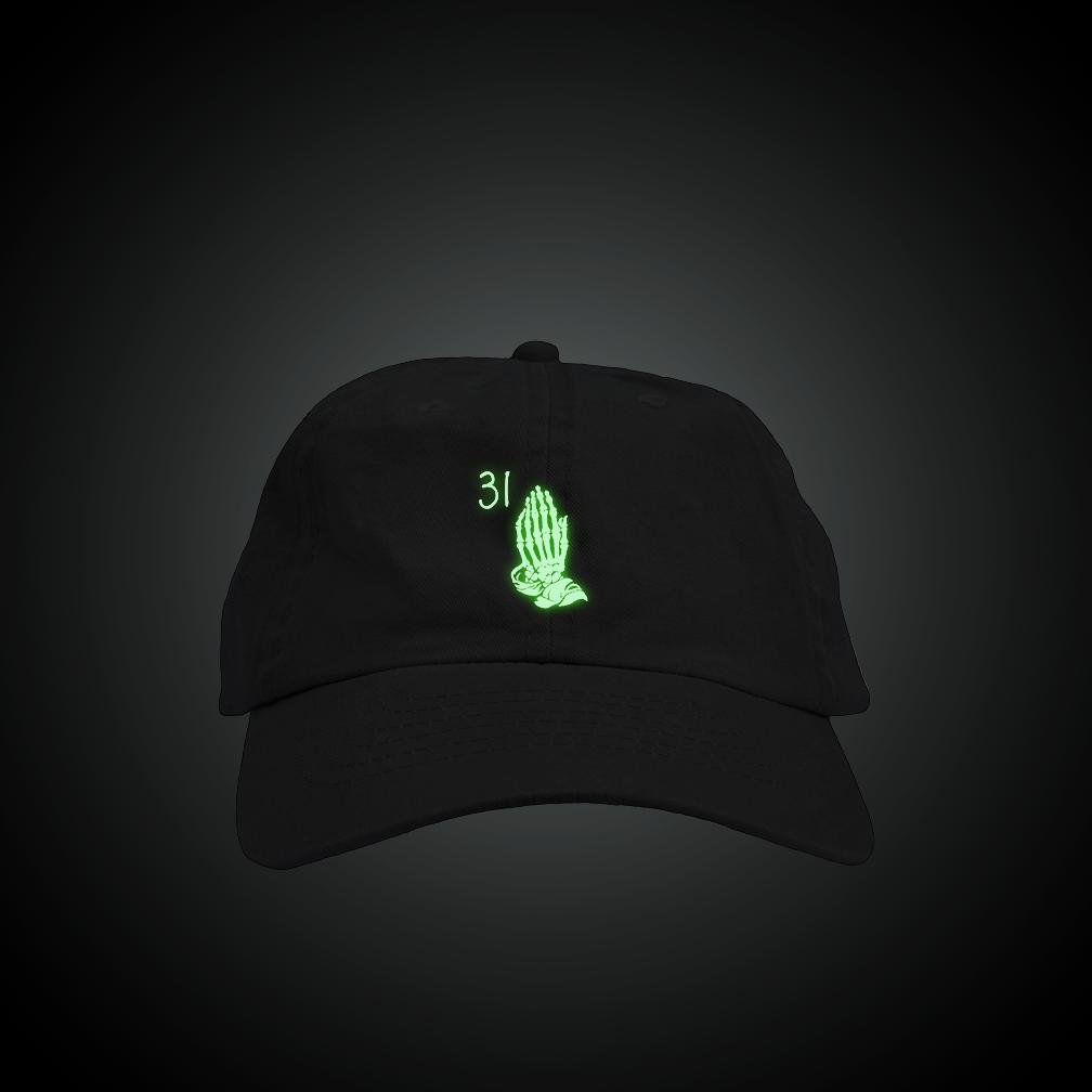 f5dda139f9711 Glow in the Dark Skeleton Drake Hands Dad Hat – Fresh Elites
