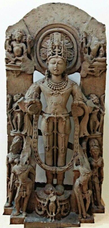 """Lord Surya. "" ( The Hindu Sun God). Pratihara Dynasty 10th Century CE. Bhopal Museum. M. P. ( India )"