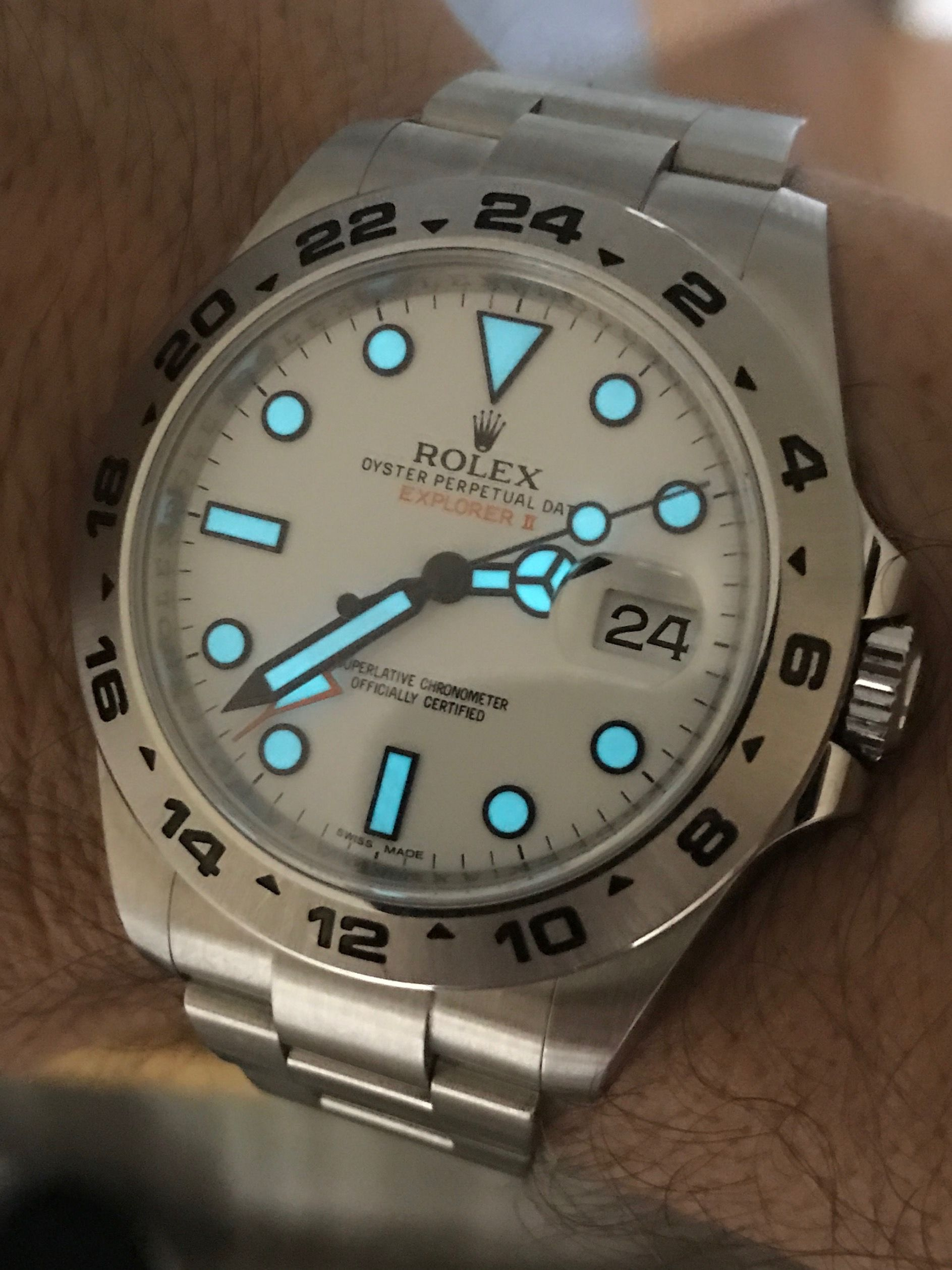 Rolex Explorer II 216570 Polar LUME SHOT