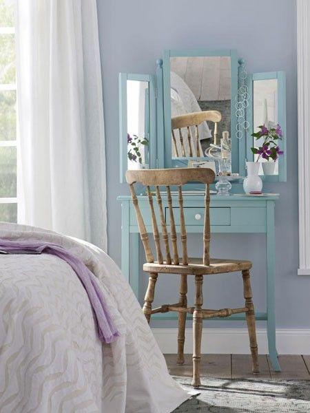 Stilvolle Schminktische mit Spiegel verzaubern White interior - Schlafzimmer Landhausstil Weiß