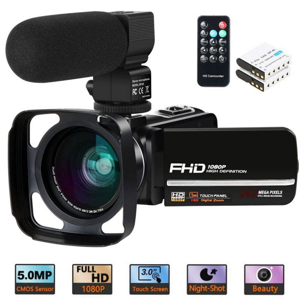 Camcorder Video Camera Actitop 1080p 30fps Ir Night Vision Youtube