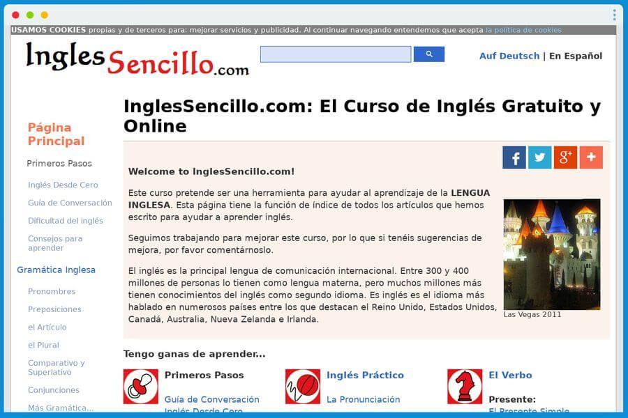 Inglessencillo Es Una Pagina Que Nos Ofrece Un Curso De Ingles Gratuito Y Online Para Aprender De Forma Sencilla Y A Nuestro Ritmo
