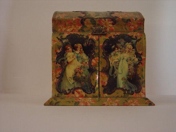 Victorian Celluloid Dresser Box Victorian Pictures Box