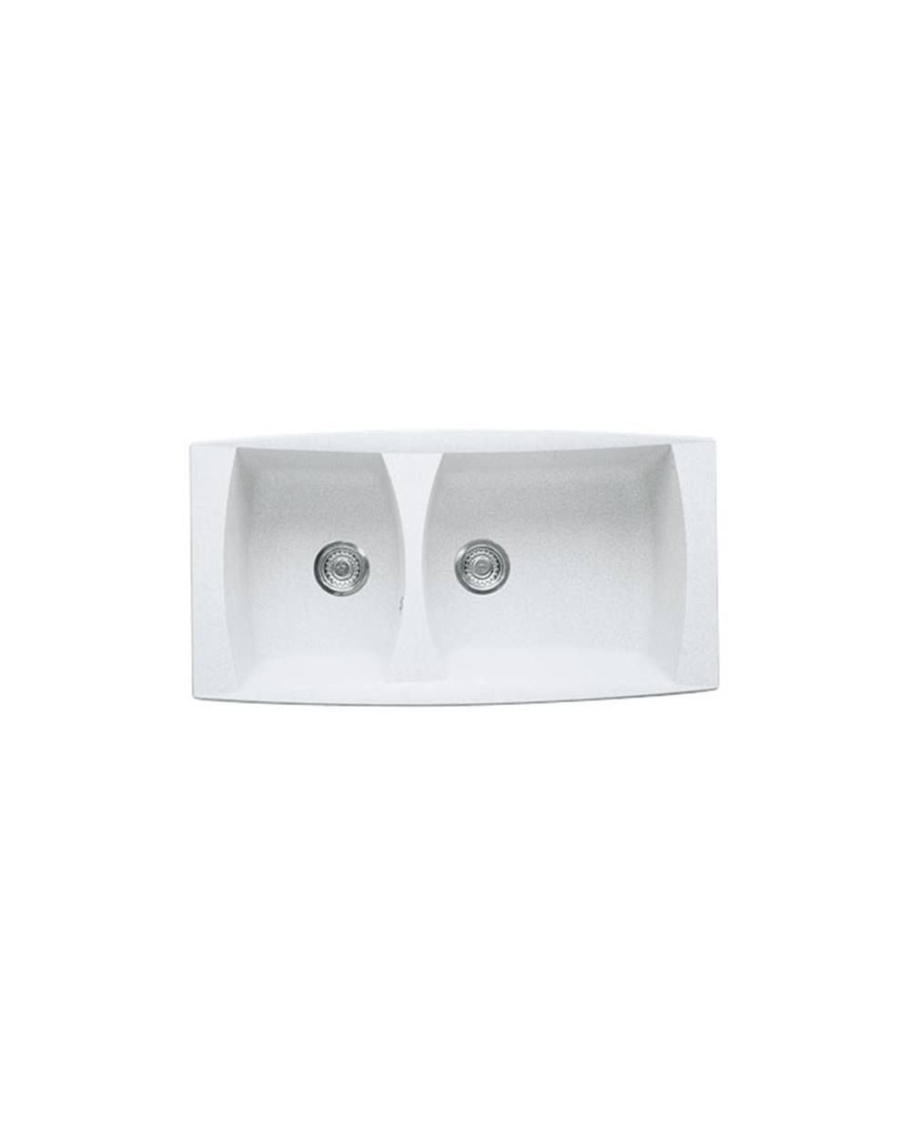 Sink Milan MIG 620 Polar White A Inlaid Sink With Two Different Troughs. It  Can