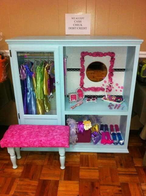 Dress Up Closet From Oak Entertainment Center I Know A Couple Of Little Girls That Would Like This In The Playhouse Sorry No Room