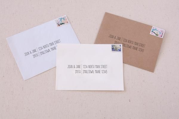 Informal Hand Lettered Printable Envelope Address Templates