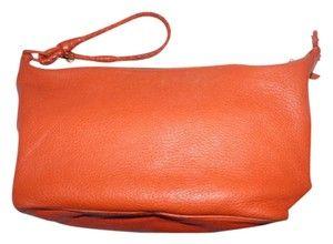 4ec9cf0671e0c0 Bottega Veneta Shoulder/Handheld Woven Strap Shoulder/Xl Wristlet Mint  Vintage Satchel in True orange Leather