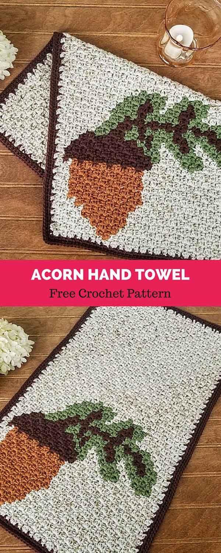 Acorn Hand Towel [ FREE CROCHET PATTERN | CRAFTS CROCHET Patterns ...