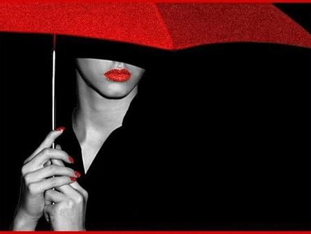 Image detail for lady with red umbrella beautiful black and white lady