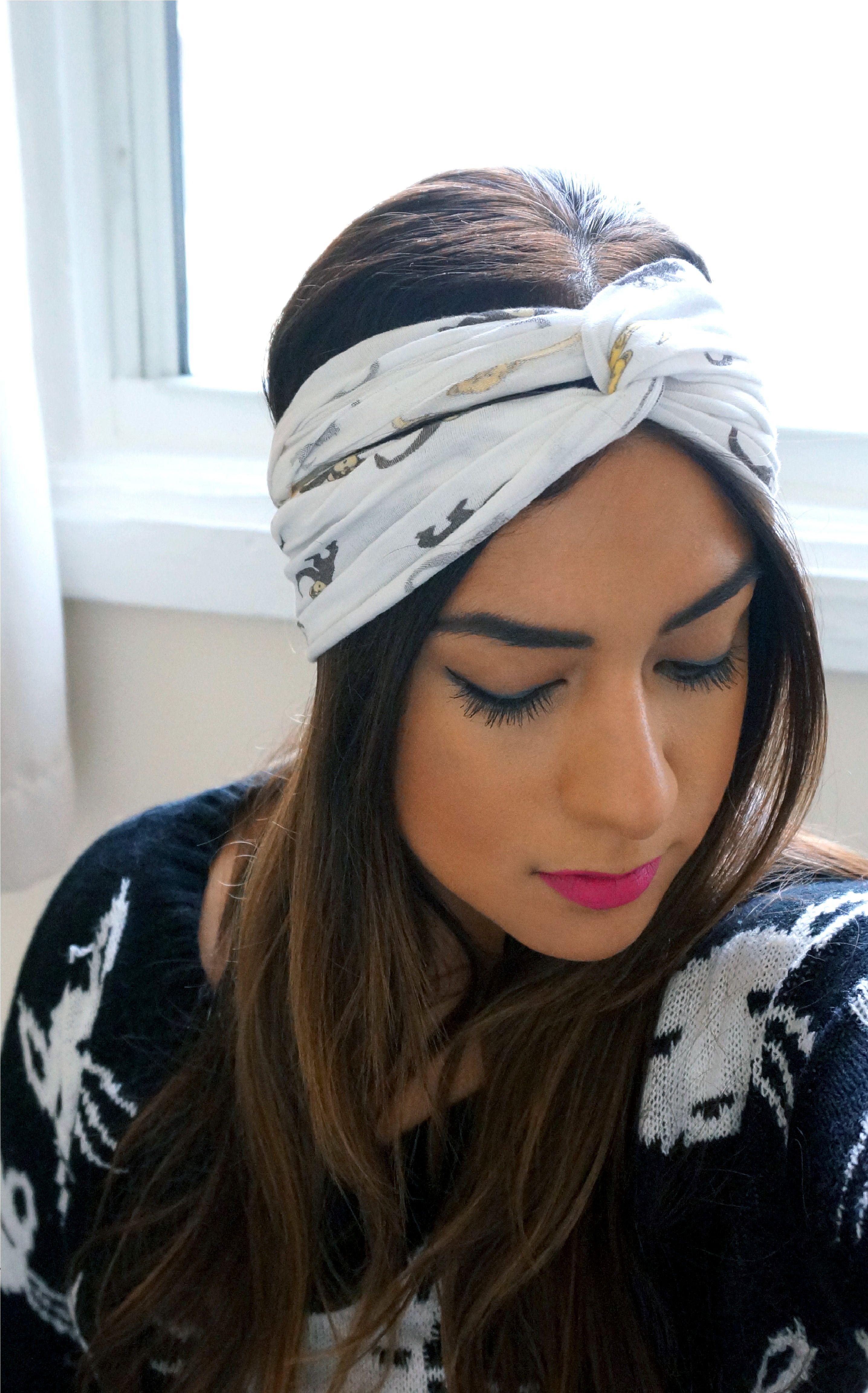 DIY No Sew Turban Headband  2f205604737