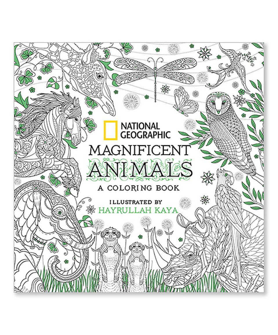 Look at this #zulilyfind! Magnificent Animals Coloring Book by ...