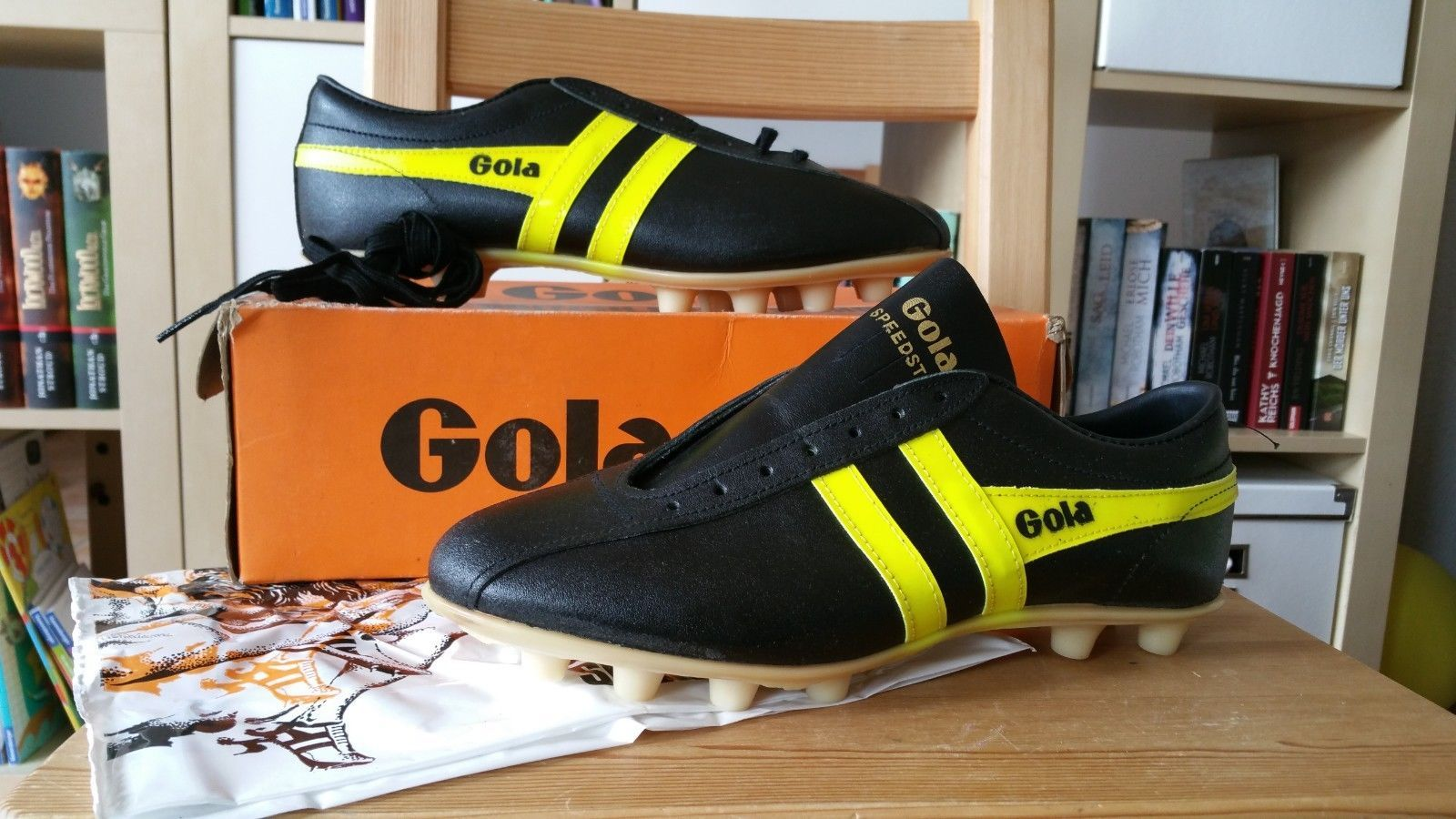 hot sale online 11741 f2389 ... Gola Speedster Vintage 70s Made in England Fussball Schuhe 7 17  Gola  Boots ...