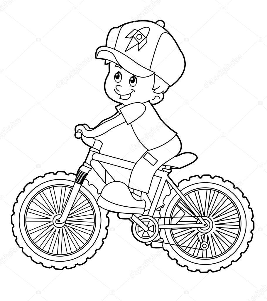 Bicicleta De Equitaa A O De Criana A Dos Desenhos Animados A