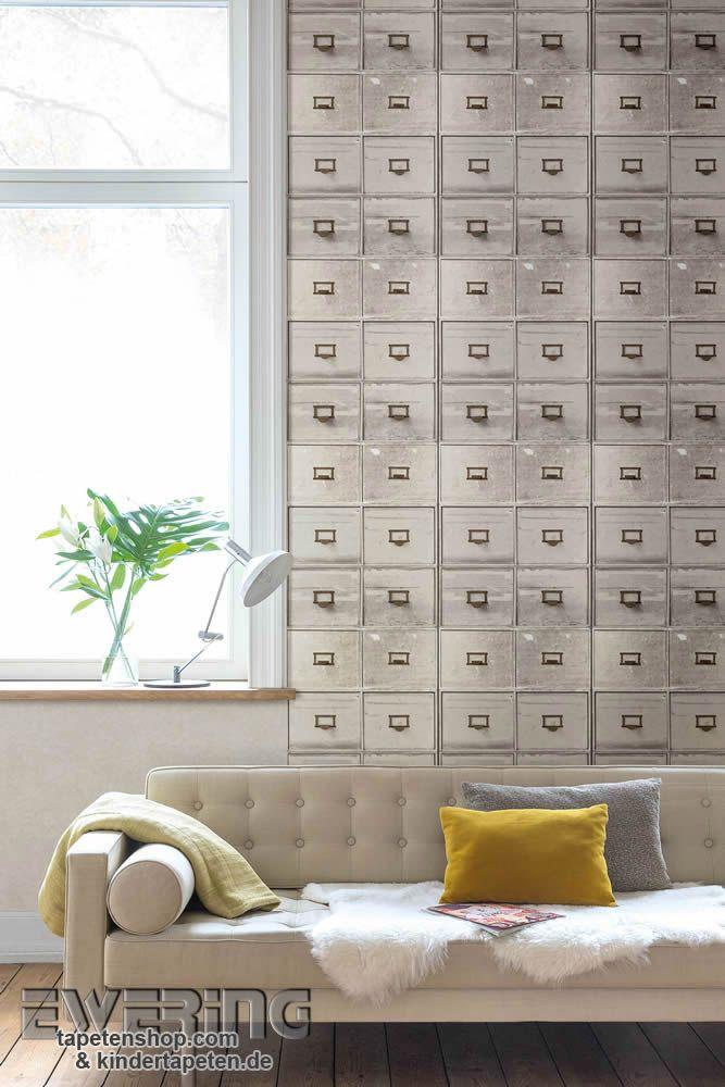 Splendour 09 die graue tapete mit postbox motiv wirkt for Graue tapete wohnzimmer