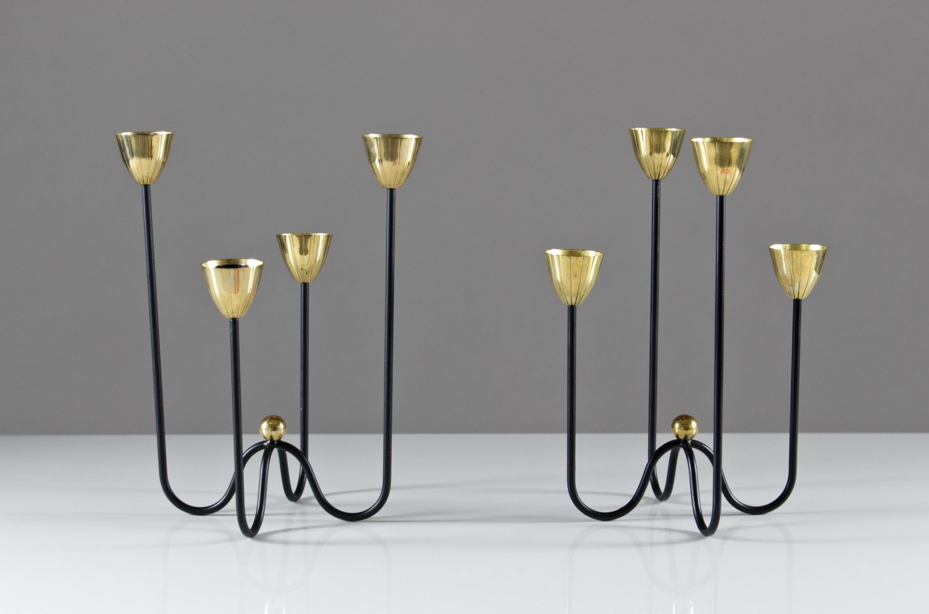 Candelabras by gunnar ander for ystad metall set of pinterest