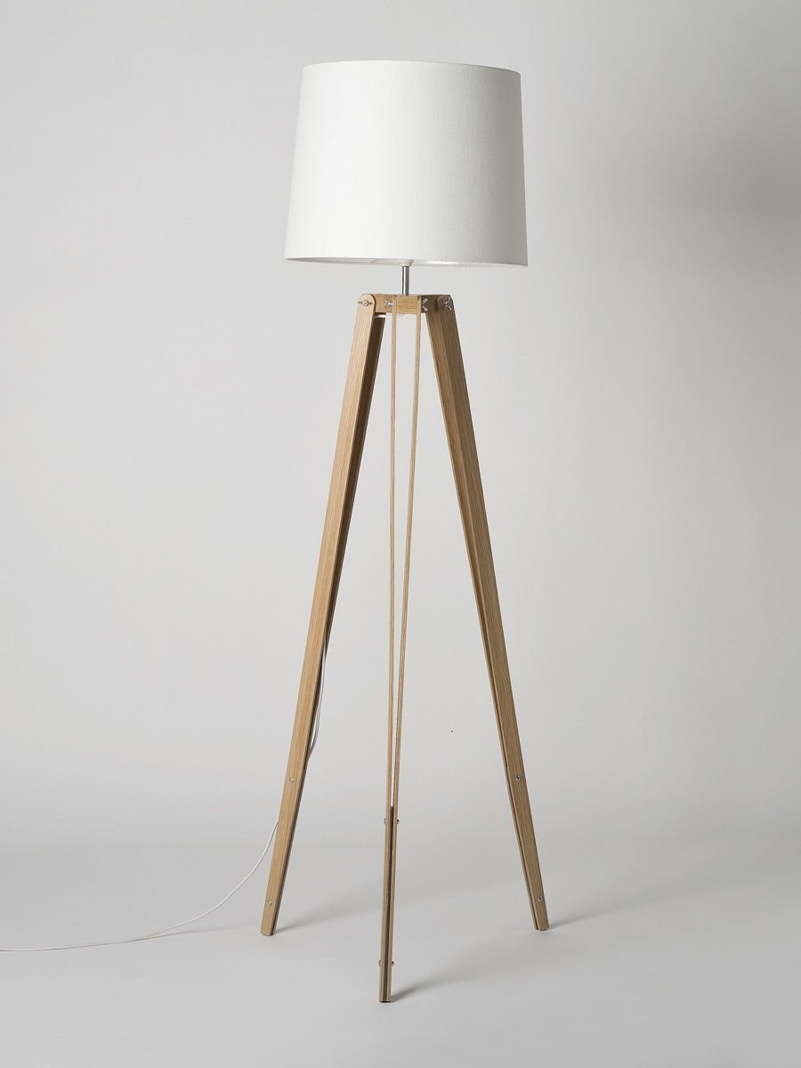 Oak Rs 2 Tripod Floor Lamp Made By Douglas And Bec Douglas Bec Luminaria Decoracao Abajur
