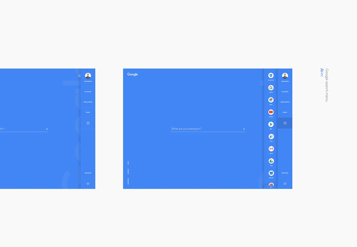 Google Search Design Concept on Behance