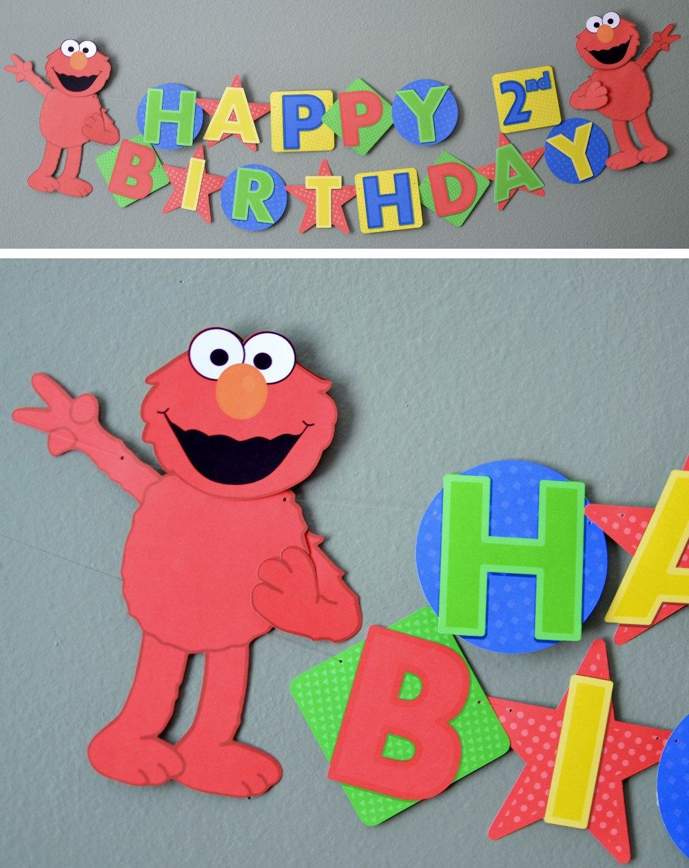 Elmo Sesame Street Birthday Banner Party by bcpaperdesigns on Etsy