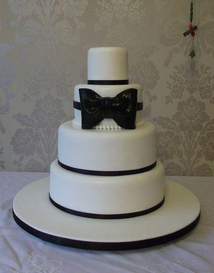 Black Amp White Tie Themed 30th Birthday Cake Cake By