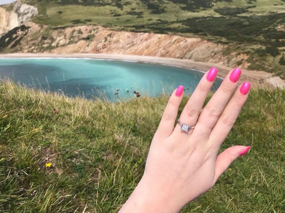 Stunning Engagement Ring Selfie Engagement Photos Engagement