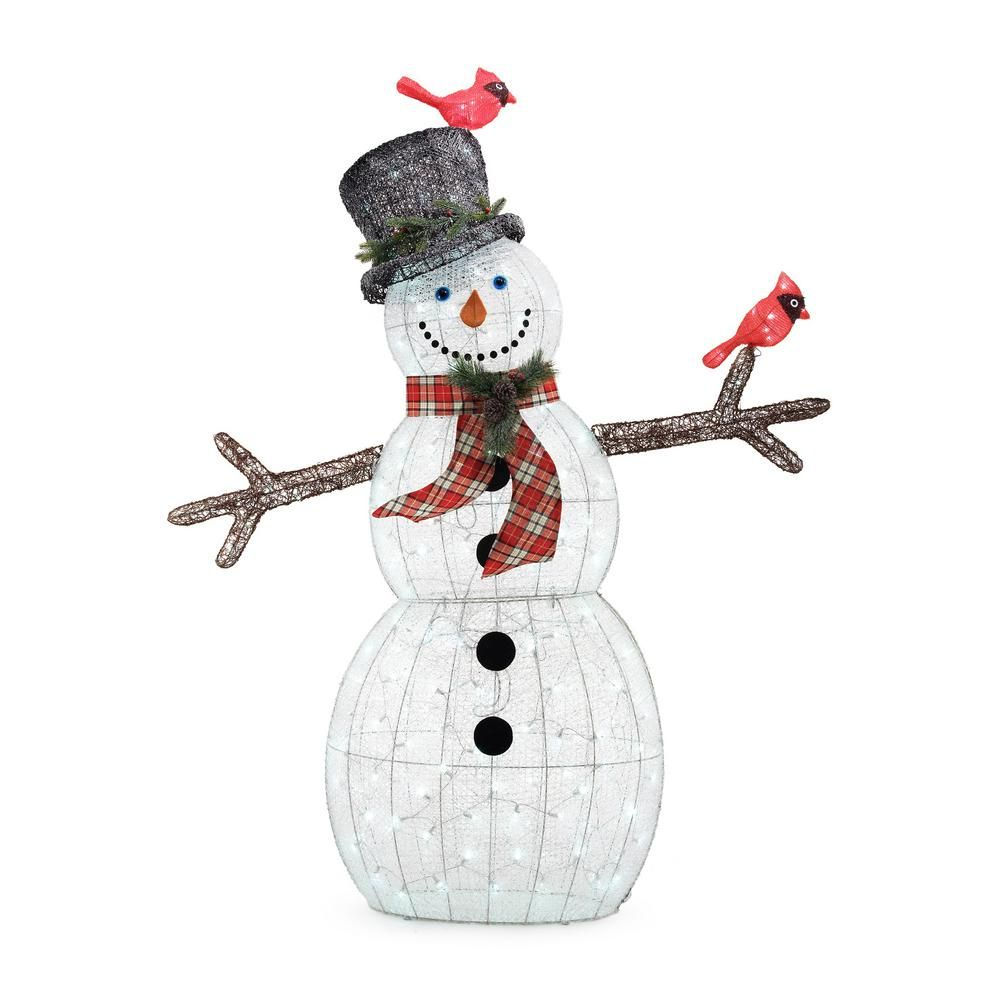 72IN 240L Led Acrylic Snowman With 2