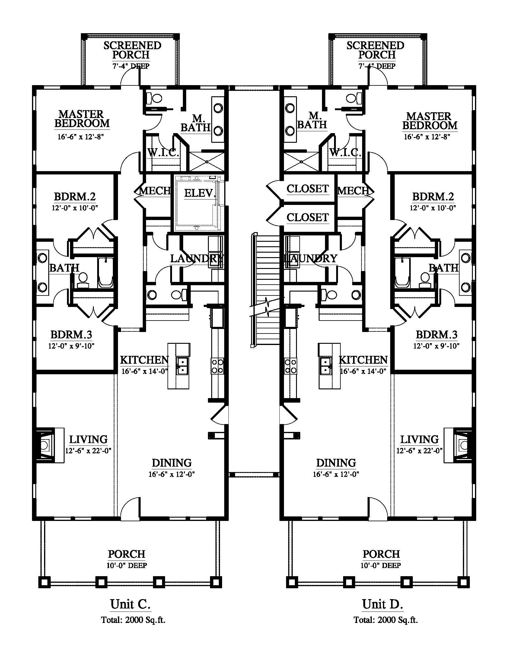 21 Glorious Floor Plan 2 Story 2000 Sq Ft That Will Beautify Your Space Duplex House Plans Duplex Floor Plans Floor Plan Layout