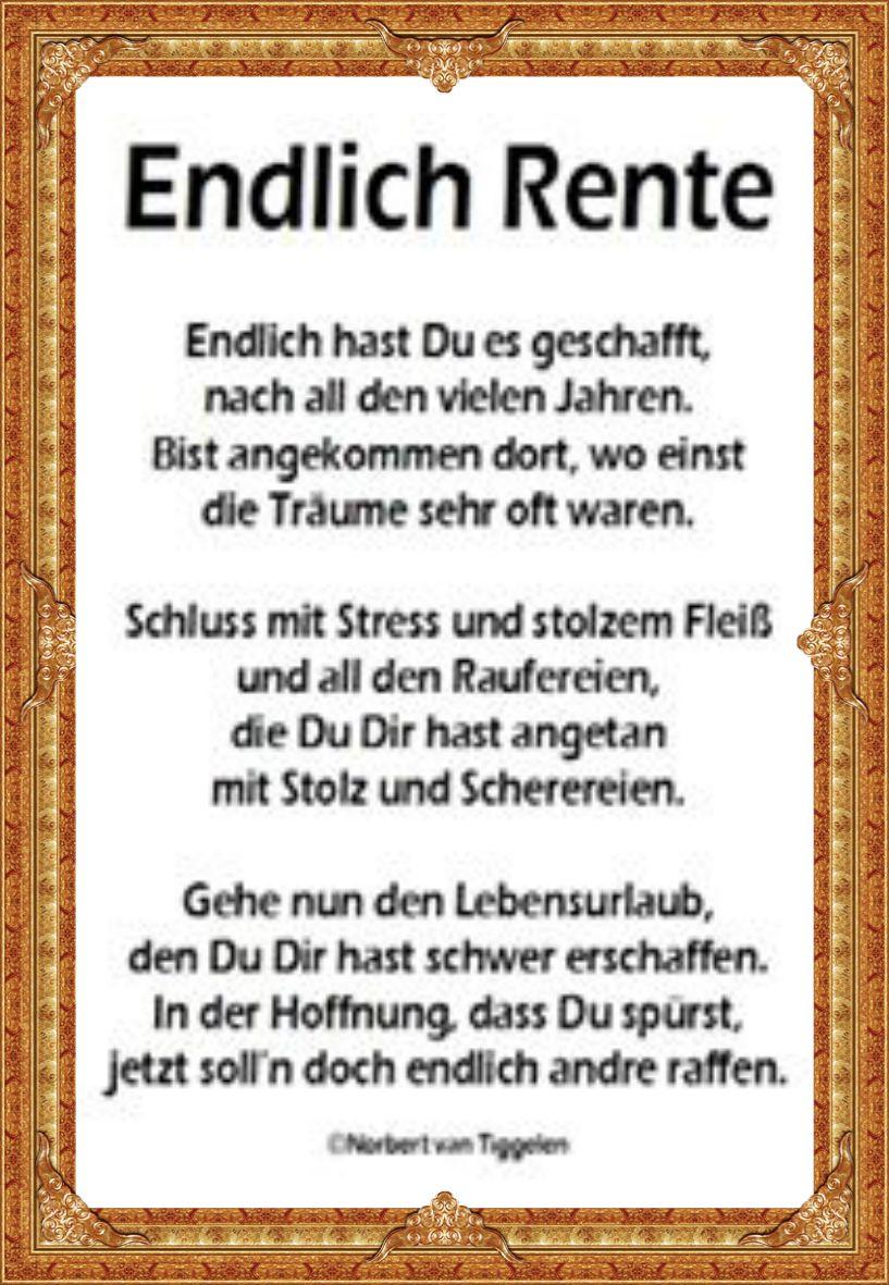 Pin Von Birgit Warschun Auf Spruche Spruche Rente Spruche Zum