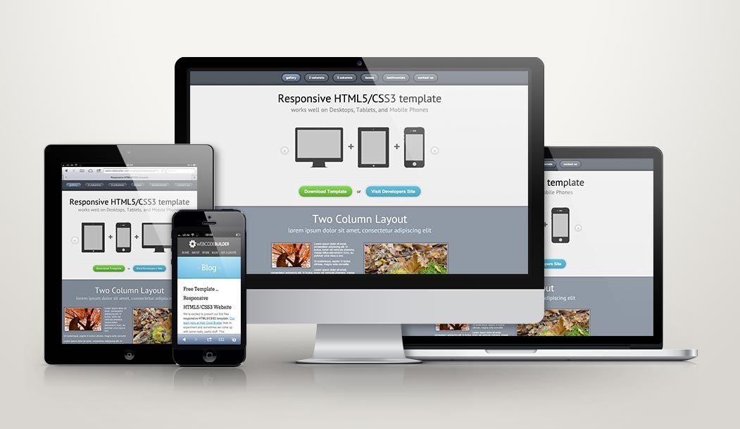 Responsive Design Zehn Kostenlose Webdesign Templates Design Web Webdesign Web Design