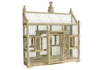Antiqued Mirrored Bird Cage, Cream in February 18 - 2013 from One Kings Lane on shop.CatalogSpree.com, my personal digital mall.