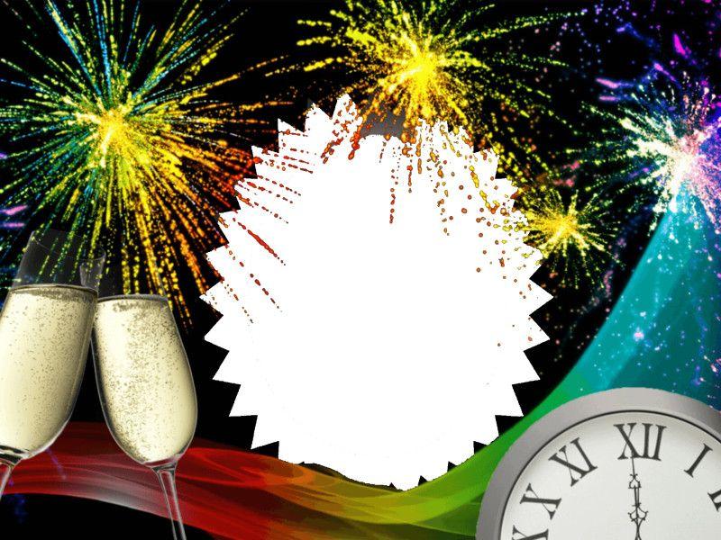 Marco Foto Año Nuevo, marco para foto navidad, marco para foto ...