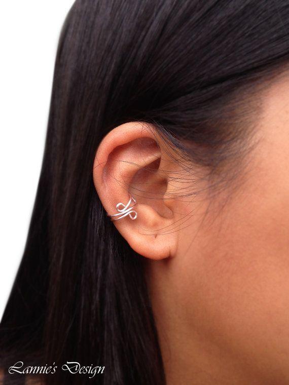 Light Pink Ear Cuff, Cuff Earrings, Light Pink Earcuff, Simple Ear Cuff, Free Shipping anywhere in the USA