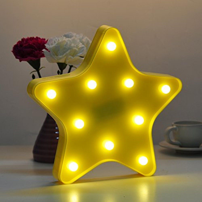 Deroteno star night light wall lamp led bulb room decor ideal