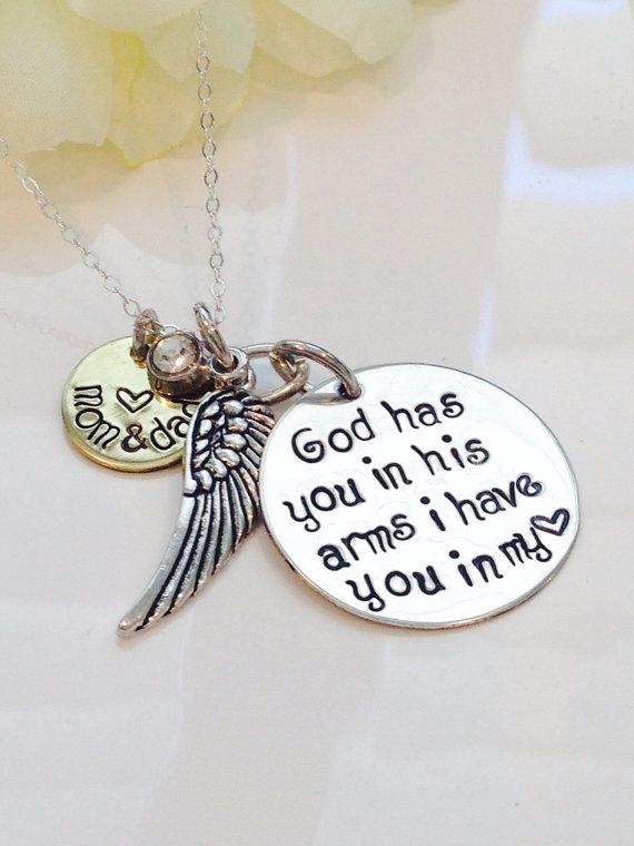 mothers personalized  bereavement jewelry infant and baby loss  necklace Hand stamped memorial locket