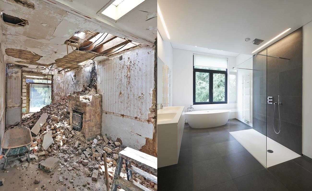 wie lange dauert bad renovieren  Badrenovierung, Haus renovieren