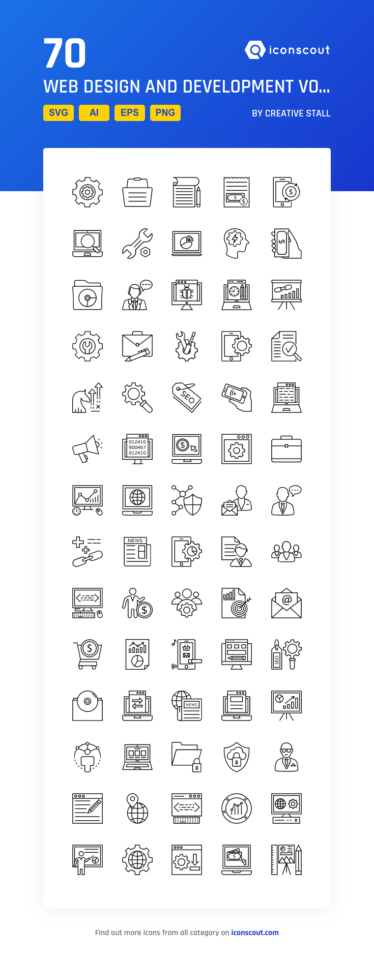 Download Web Design And Development Vol 4 Icon Pack Available In Svg Png Eps Ai Icon Fonts Marketing Icon Web Development Design Icon