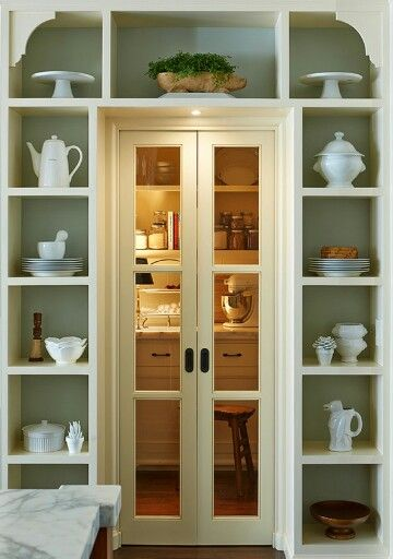 Walk in pantry with shelving for appliances kitchens Pinterest