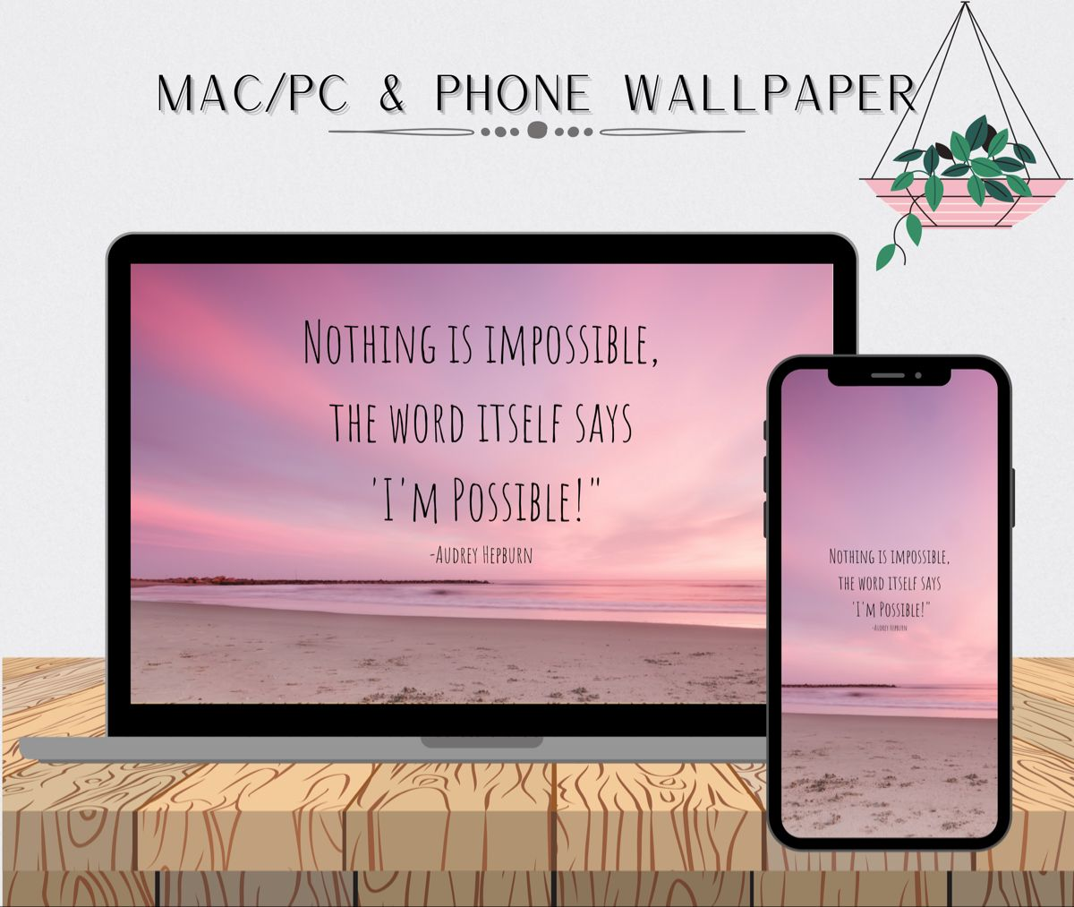 Matching Set 2 Sunset Quote Mac Pc And Phone Wallpapers Phone Background Wallpaper Laptop Wallpaper Quotes Laptop Wallpaper Quotes Motivational