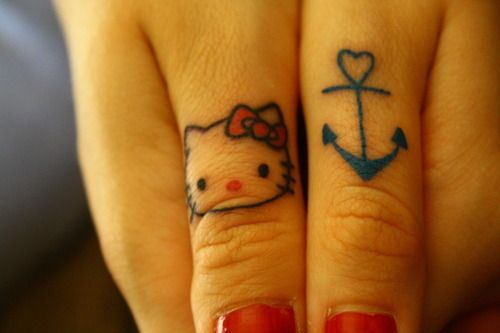 That Anchor Tattoo Is 3 At First Sight Hello Kitty Tattoos
