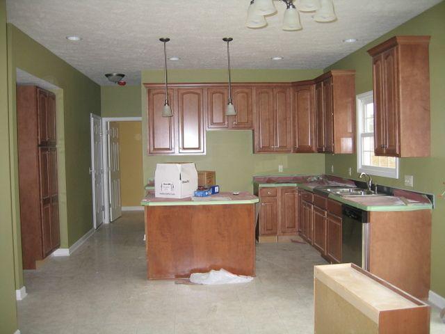 Kitchen Laundry Reno Updated July 1st Countertop Pics Green Kitchen Paint Green Kitchen Walls Sage Green Kitchen Walls