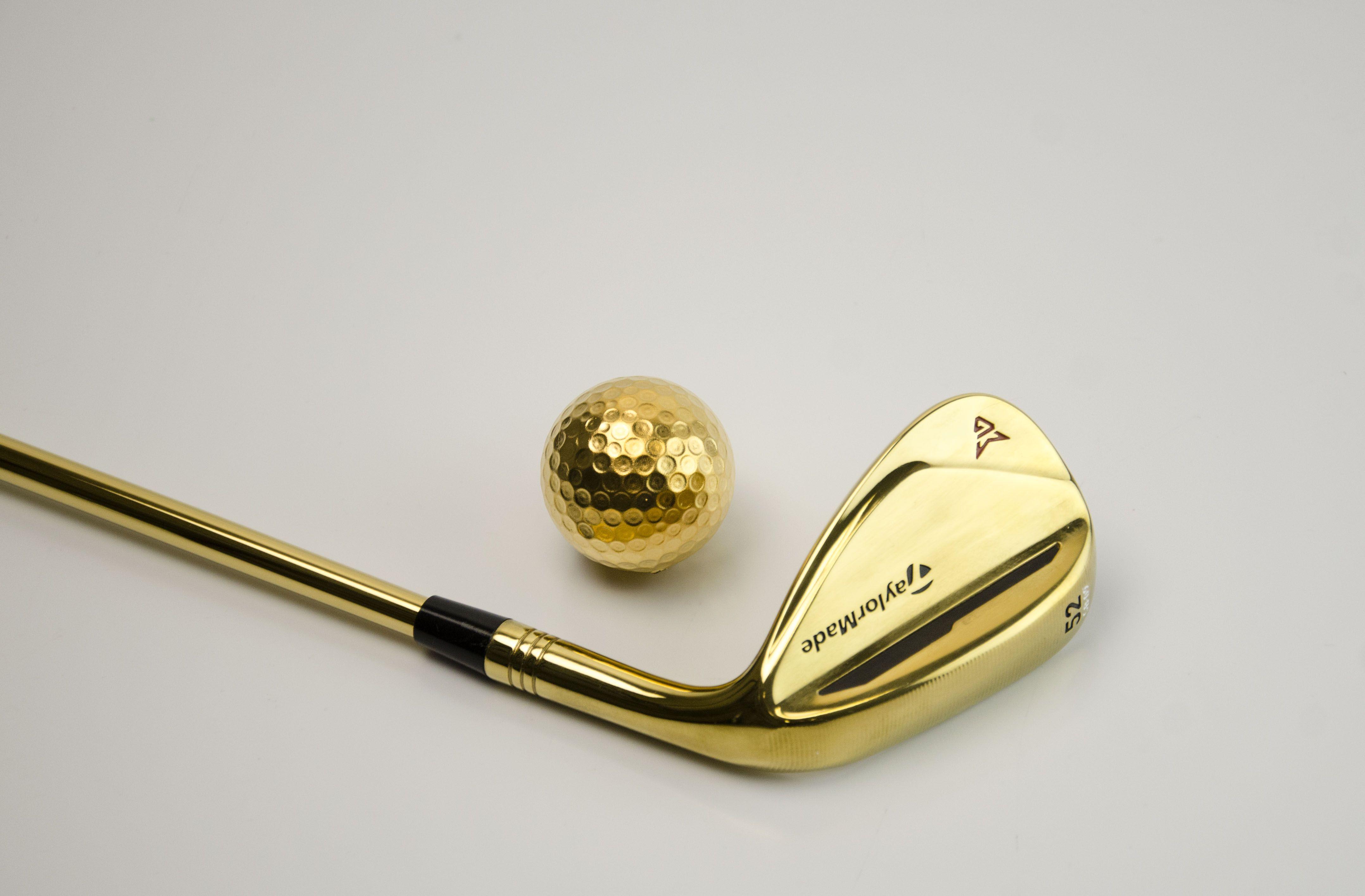 24k gold golf ball club zinc plating nickel plating