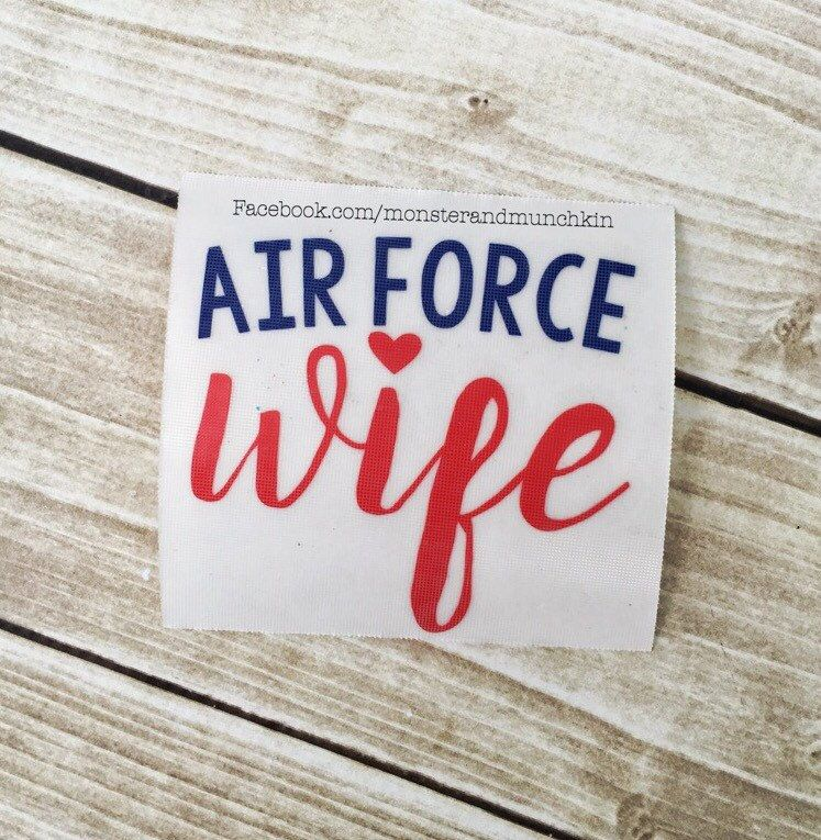 Air Force Decal, Military spouse, Decal, Air Force decal