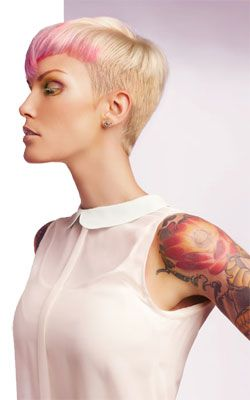 International Artistic Educator for Pravana, Alan Papaleo, looks at hair as his canvas, and for this photoshoot, ChromaSilk Vivids was his medium. After creating a very strong shape he accented the look with pops of color to show the softer side of Vivids.