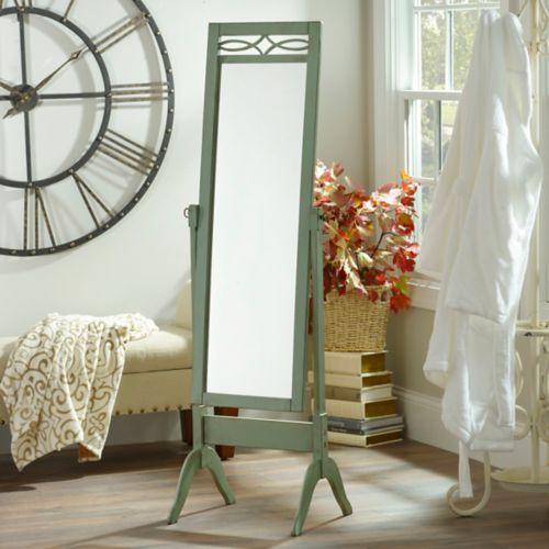 Distressed Blue Cheval Floor Mirror | Dorm room decor ... on Floor Mirrors Decorative Kirklands id=78286