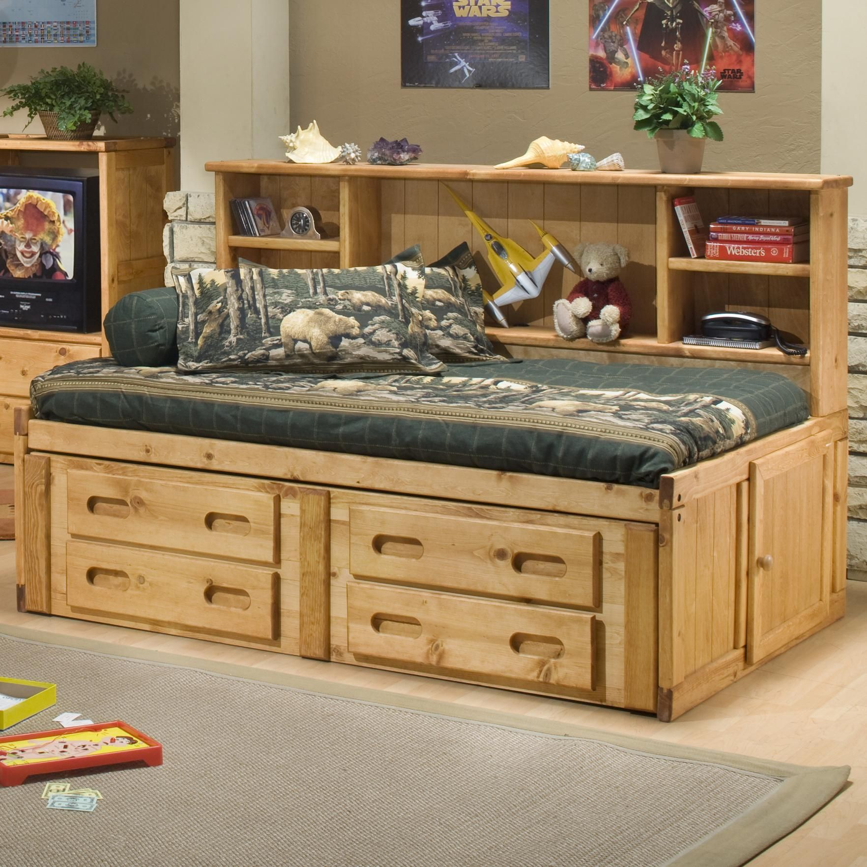 Bunkhouse Twin Cheyenne Captain's Bed by Trendwood